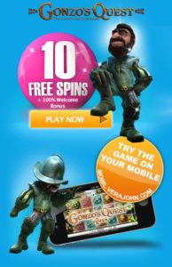 Vera John Casino 10 Free Spins - no deposit required!