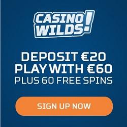 CasinoWilds free spins bonus