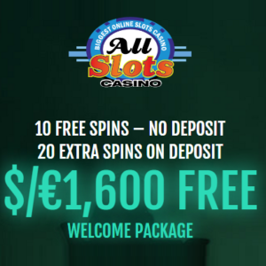 All Slots Online Casino: 30 free spins no deposit + €1600 exclusive bonus