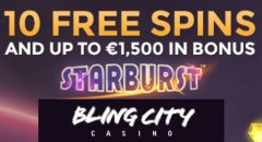 BlingCity Casino free spins