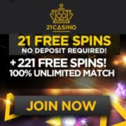 21 Casino free spins