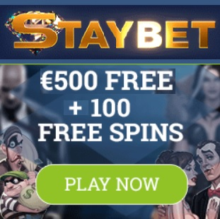 Staybet Casino Review | 100 free spins plus €500 gratis bonus