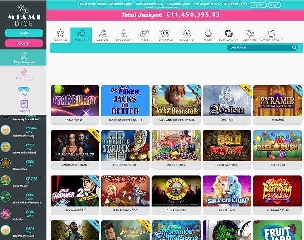 The Best Online Casino - Miami!