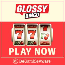 GLOSSY BINGO - 100 free spins and £300 bonus - new casino games!