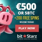 Bitstarz Casino 200 free spins (20 FS no deposit) and 5 BTC free bonus