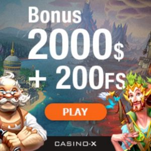 CASINO X - €2000 bonus and 200 free spins - best jackpot games!