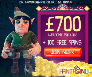 Fantasino Casino (desktop & mobile) - €700 cash bonus & 100 free spins
