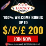 Ace Lucky Casino 50 free spins   100% up to $€£ 200 free bonus