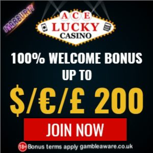 Ace Lucky Casino 50 free spins + 100% up to $€£ 200 free bonus