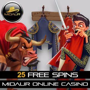 MIDAUR - 25 free spins & £100 bonus money - casino review