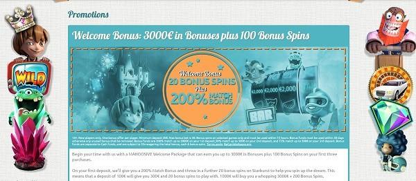3000 EUR bonus and 100 free spins after deposit at Spin Station Casino