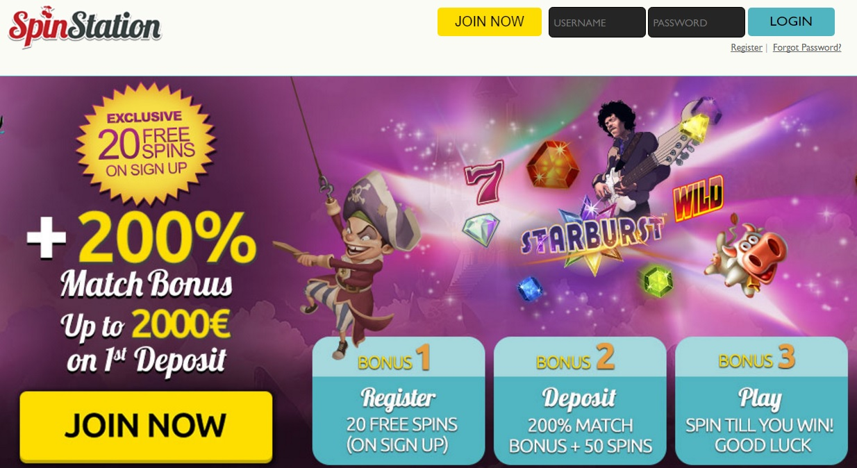 Spin Station Casino 20 free spins no deposit required   3,000 pounds free bonus