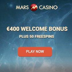 Mars Casino 50 free spins & 175% up to €400 or 4 Bitcoins free bonus