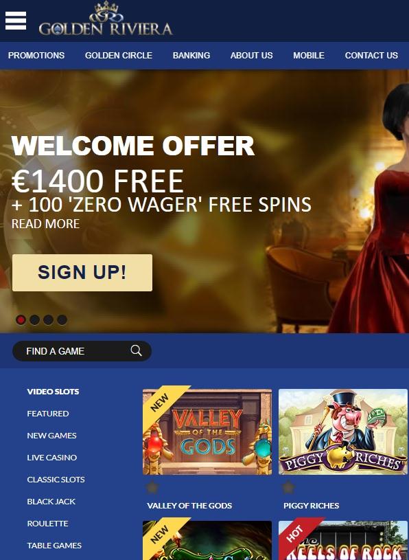 Golden Riviera Online Casino Review