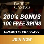 Babe Casino 100 gratis spins   100% highroller bonus up to €2500
