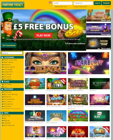Fortune Frenzy Casino free bonus