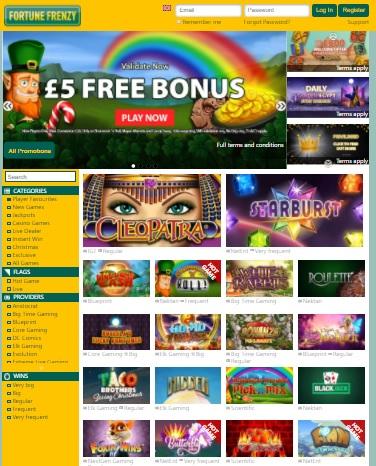 Fortune Frenzy Casino free bonus