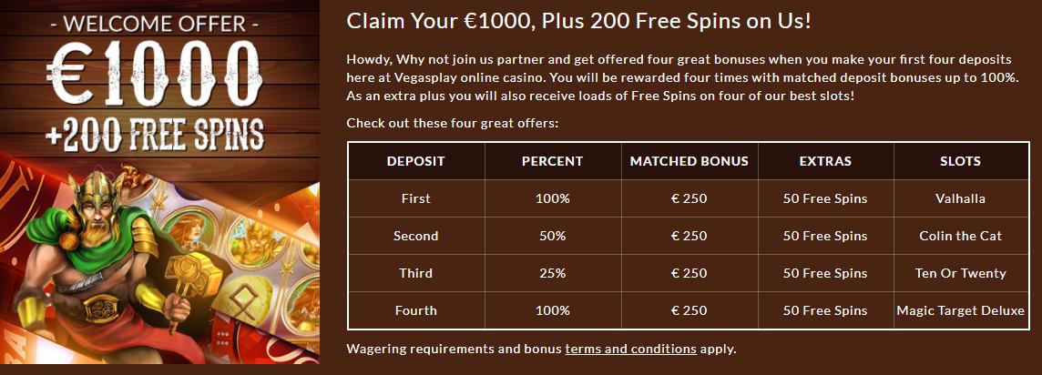 Vegas Play Free Bonus