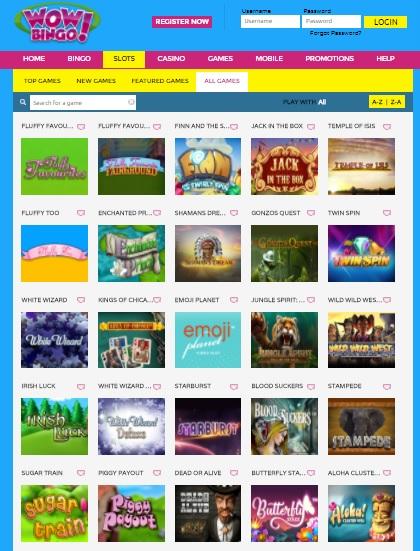 Wow Bingo UK online casino