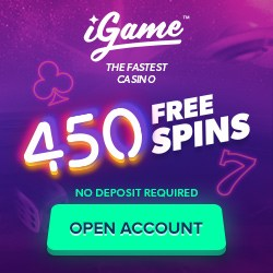 iGame Casino   600 free spins (450 FS ndb) & €1000 free bonus