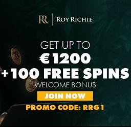 Roy Richie Casino 100 free spins and 325% up to €1,000 bonus