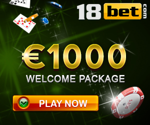 18bet Casino 50 free spins and 450% up to €1000 deposit bonus
