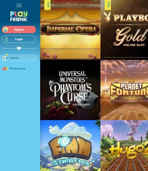 PlayFrank casino free bonus