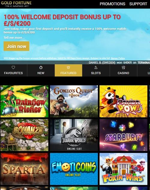 Gold Fortune Casino Online & Mobile Free Bonus