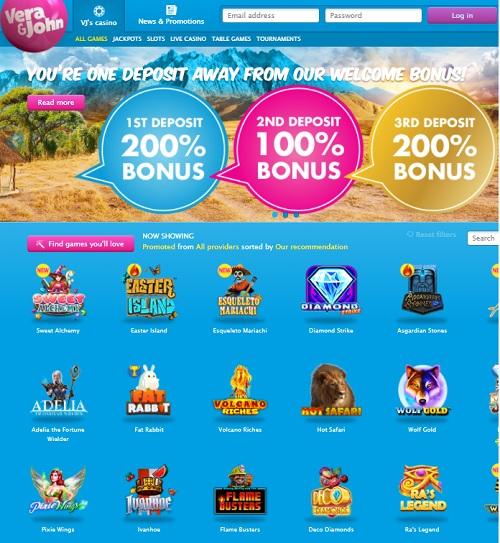 VeraJohn.com Casino Online and Mobile free spins bonus