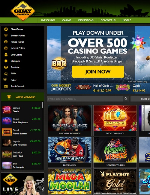 G Day Casino Review