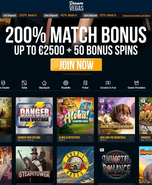 Dream Vegas free casino online