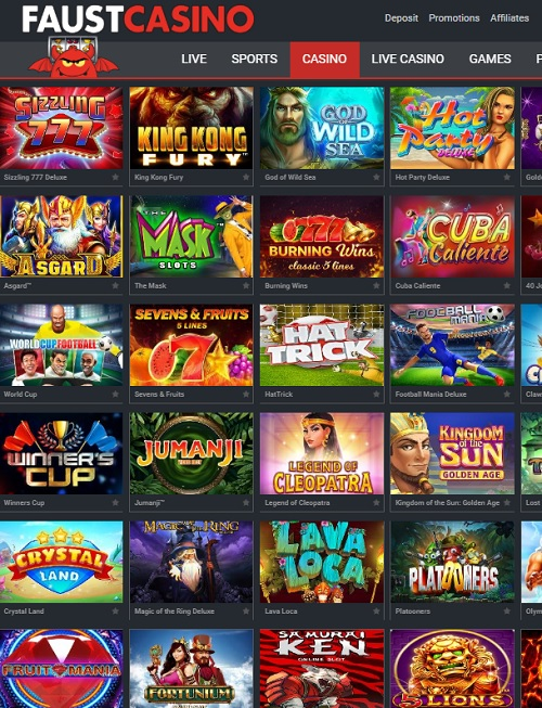 FAUST CASINO free spins