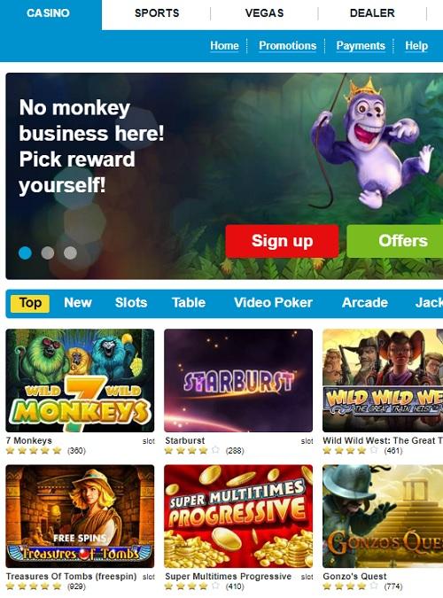Propa Win Casino free spins bonus