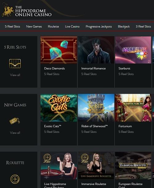 The Hippodrome Casino Free Spins