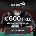 Wild Jack Casino 100 free spins + 300% match bonus up to €600