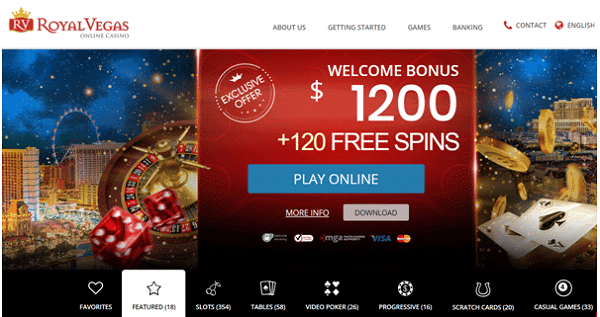 $1200 welcome bonus and 120 exclusive free spins on MEGA MOOLAH