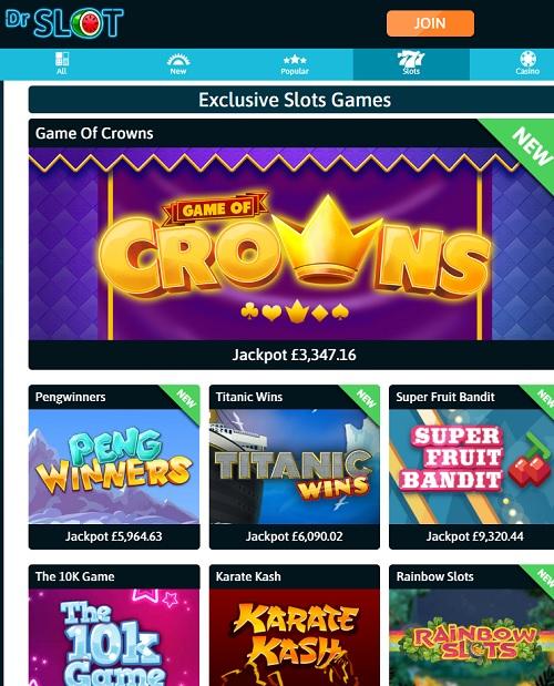 Dr Slot Casino Online & Mobile
