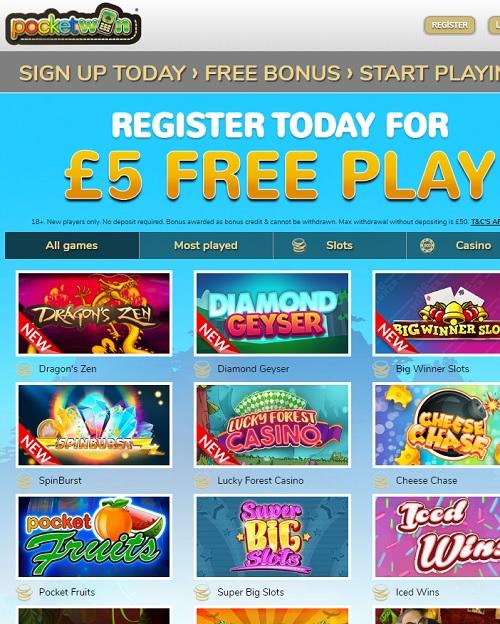 PocketWin Casino review