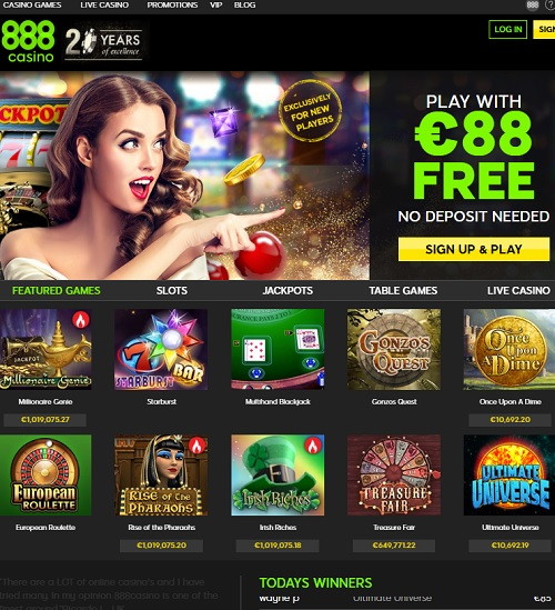 888Casino online and mobile - play now