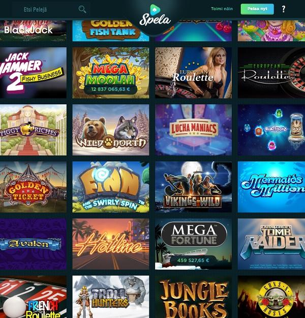 Spela Casino free spins bonus