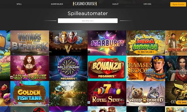 CasinoCruise.com free spins Norway