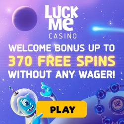 LuckMe.com - 370 free spins bonus without any wager conditions