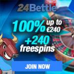 24Bettle Casino (24Bettle.com) 100% bonus + 24 free spins