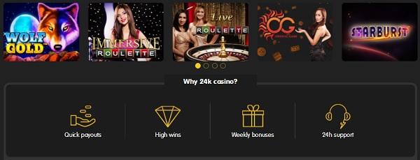 24K online games welcome bonus code