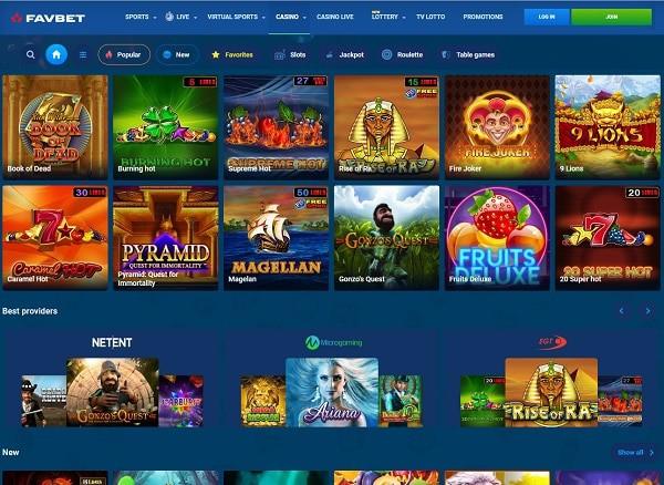 FavBet Casino Online Review
