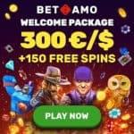 How to get 150 free spins and 300 eur bonus to Betamo Casino?