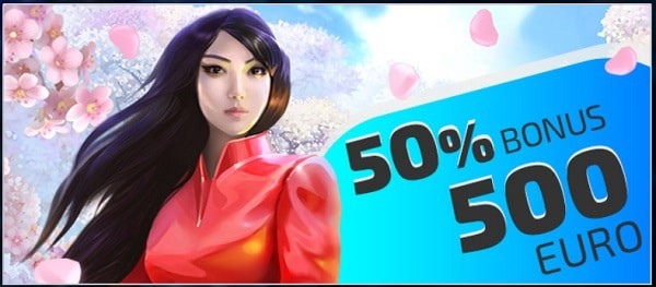 50% up to 500 EUR bonus