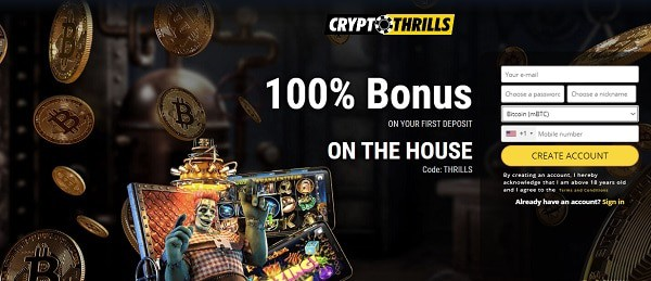 100% bonus on crypto casino games