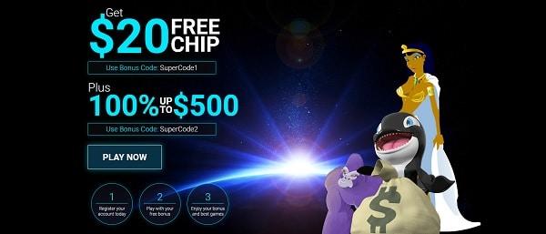 Eclipse Casino $20 free chip bonus code