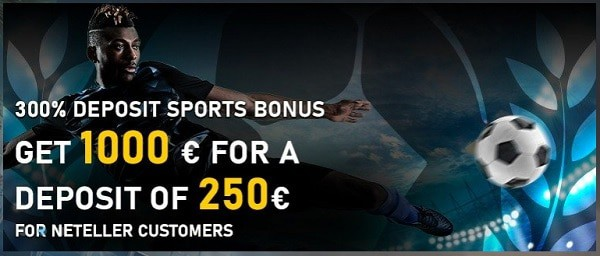 300% up to €750 welcome bonus to Bet2U